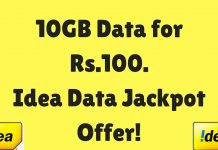 Idea 10GB for 100 Rs