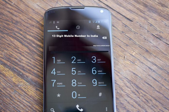 All mobile numbers to have 13 digits From July 1, 2018 in India