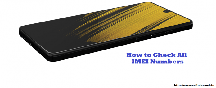 how to check all IMEI numbers