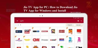 Jio TV App for Windows