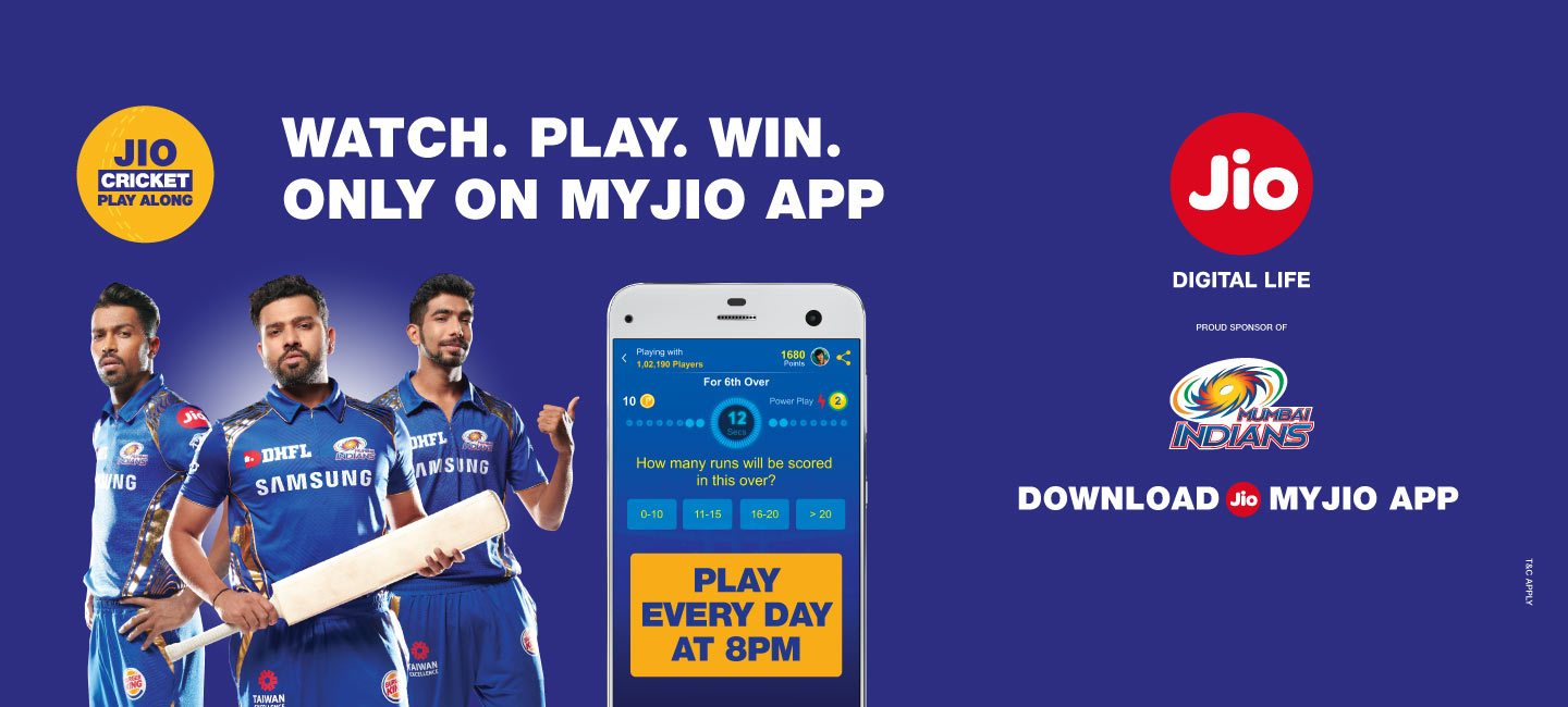 Jio Cricket Play Along App APK download and win prizes